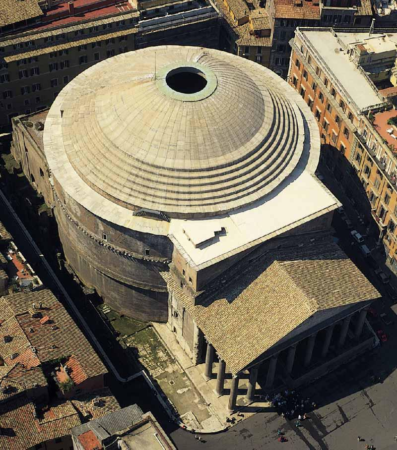 Aerial view of the Pantheon