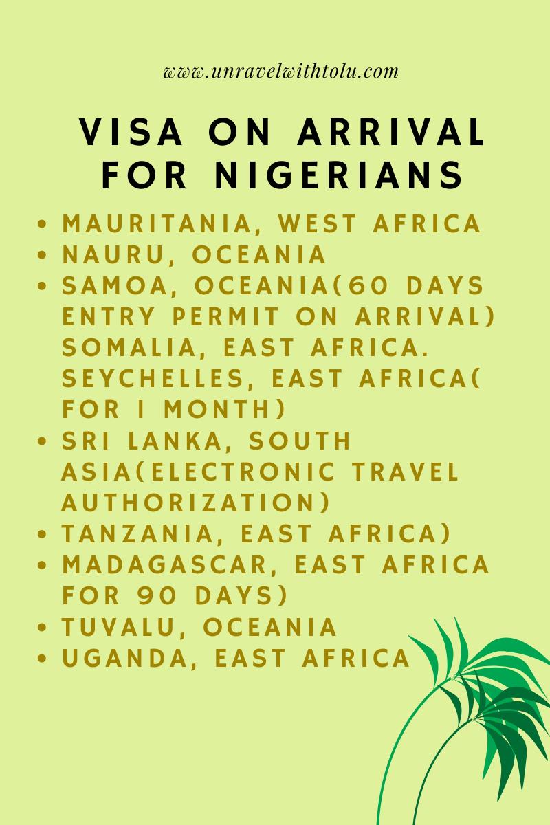 visa free for nigerians